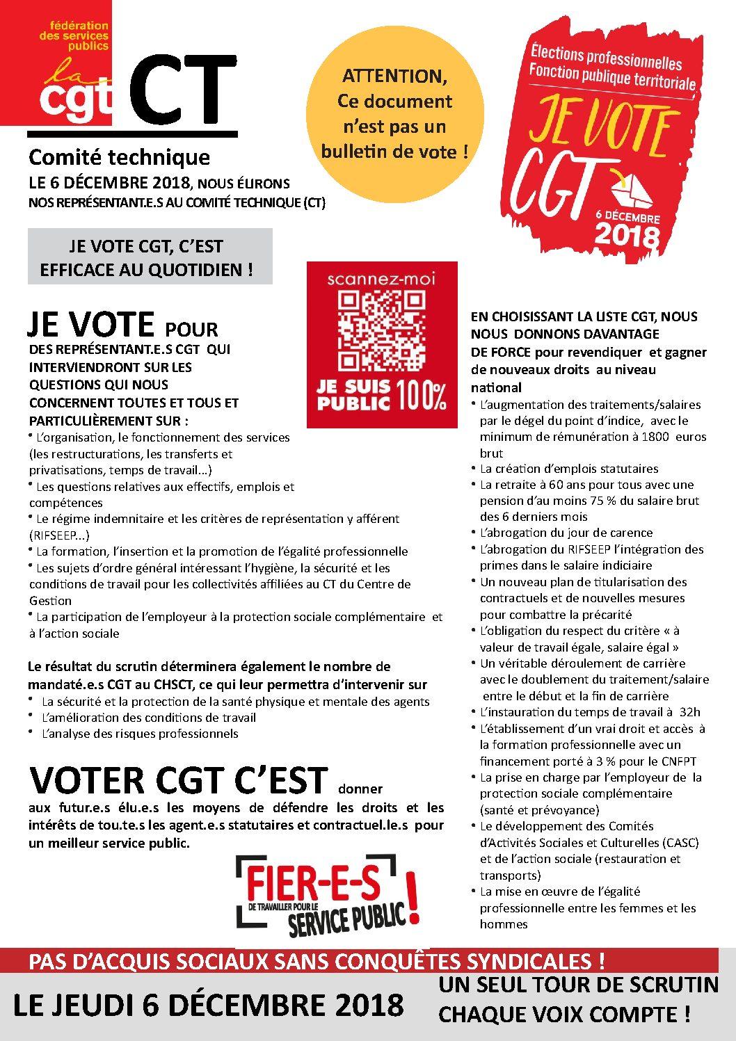 Profession De Foi Ct Comite Technique Syndicat Cgt De La Ville